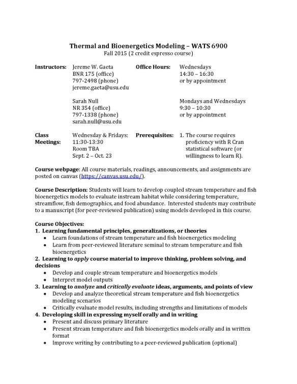 Syllabus_Thermal_Bioenergetics_Modeling_Page_1